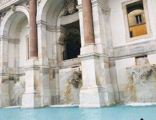 Patos silvestres en las fuentes de Roma